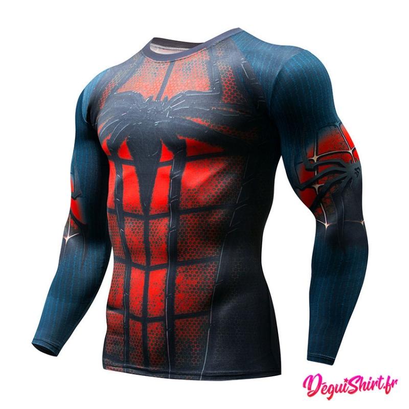 Déguishirt Spiderman : T-shirt Déguisement Avengers (Manches longues)