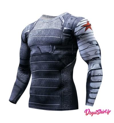 Déguishirt Soldat de l'Hiver : T-shirt Déguisement Marvel Manches longues