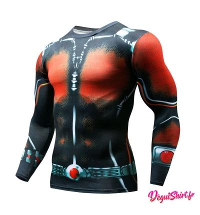 Déguishirt Ant-Man : T-shirt Déguisement Marvel (Manches longues)