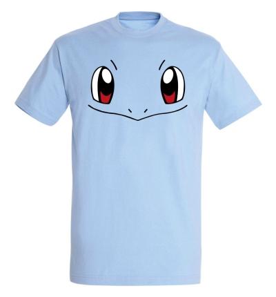 Déguishirt Pokémon Carapuce : T-shirt déguisement bleu du visage de Carapuce