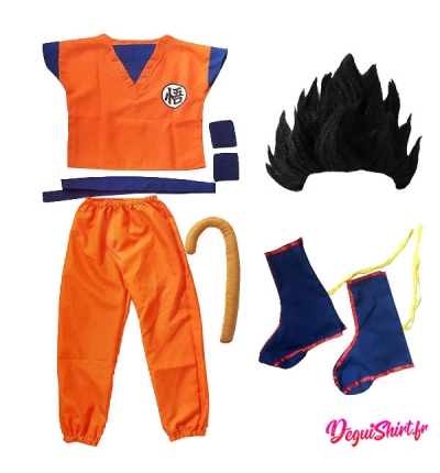Déguisement Son Goku, Son Gohan, Son Goten (Logo Wu) Dragon Ball