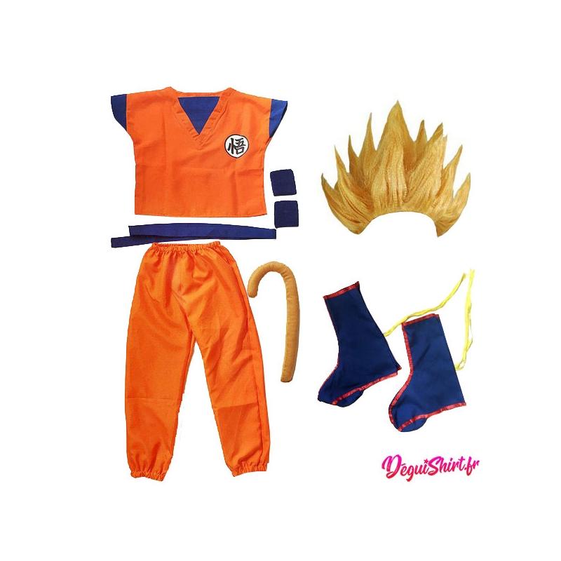 Déguisement Super Saiyan Son Goku, Son Gohan, Son Goten (Logo Wu) Dragon Ball
