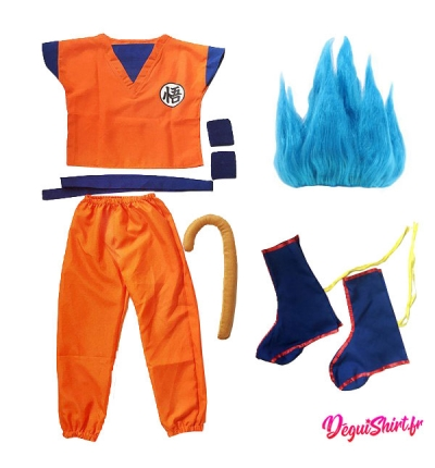 Déguisement Super Saiyan Blue Son Goku, Son Gohan, Son Goten (Logo Wu) Dragon Ball