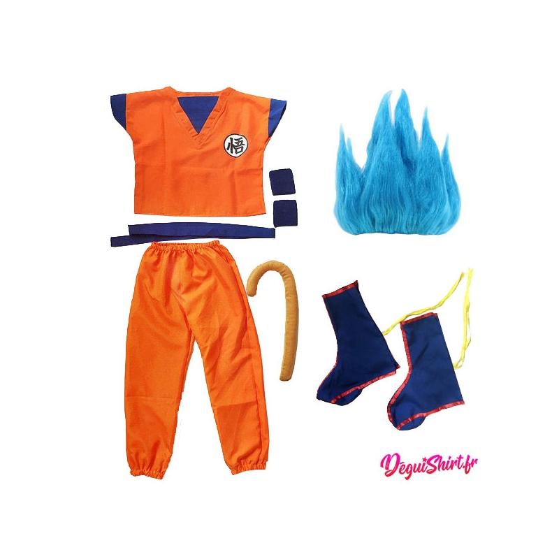 Déguisement Super Saiyan Blue Son Goku, Son Gohan, Son Goten (Logo Wu) Dragon Ball