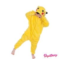 Déguisement Pokémon Pikachu enfant : Pyjama Kigurumi Pikachu garçon fille