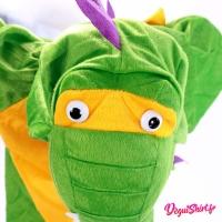 Tête déguisement Dinosaure enfant vert