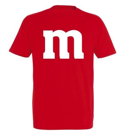 Déguishirt M&M's : Déguisement T-shirt M&M's rouge