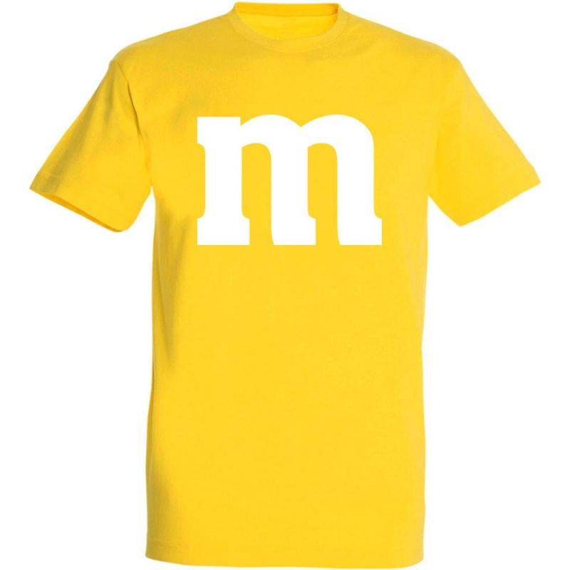 Déguishirt M&M's : Déguisement T-shirt M&M's jaune