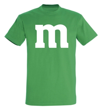 Déguishirt M&M's : Déguisement T-shirt M&M's vert