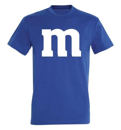 Déguishirt M&M's : Déguisement T-shirt M&M's bleu