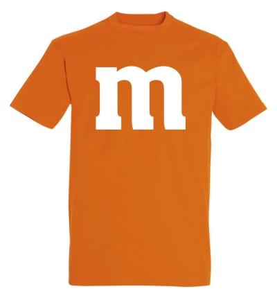 Déguishirt M&M's : Déguisement T-shirt M&M's orange
