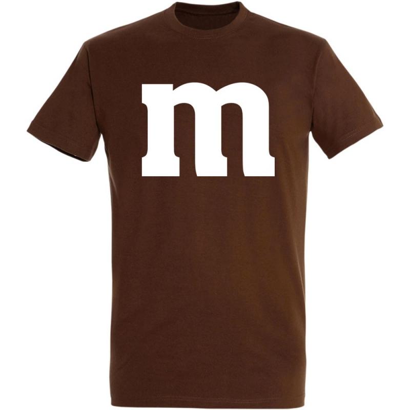 Déguishirt M&M's : Déguisement T-shirt M&M's marron
