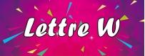DeguiShirt.fr - Costumes & T-shirts déguisement Thème Lettre W